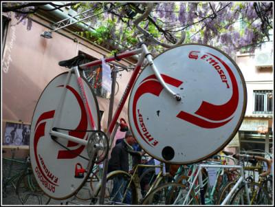 La bici di Moser per il record dell'ora