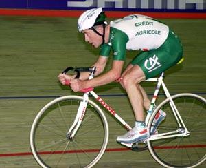 Cris Boardman al suo nuovo record dell'ora del 27 ottobre 2000  49,444Kmh